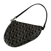 Non-Leather Handbag DIOR Saddle Black