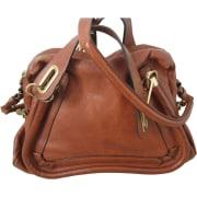 Leather Shoulder Bag CHLOÉ Paraty Brown