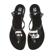 Flat Sandals KARL LAGERFELD Black