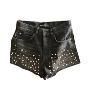 Short en jean THE KOOPLES Gris, anthracite