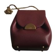 Leather Shoulder Bag POLÈNE Red, burgundy