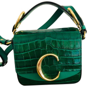 Leather Handbag CHLOÉ Green