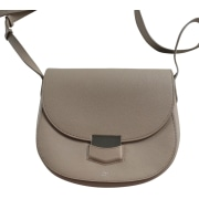 Leather Shoulder Bag CÉLINE Trotteur Beige, camel
