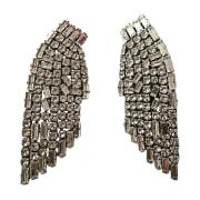 Boucles d'oreille SAINT LAURENT Argenté, acier