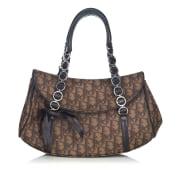 Leather Shoulder Bag DIOR Brown