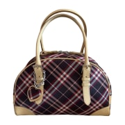 Non-Leather Handbag BURBERRY Red, burgundy