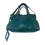Leather Handbag BALENCIAGA City Blue, navy, turquoise