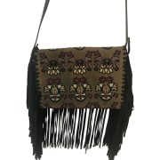 Leather Clutch ISABEL MARANT Multicolor