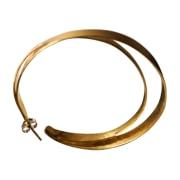 Boucles d'oreille HERVÉ VAN DER STRAETEN Doré, bronze, cuivre