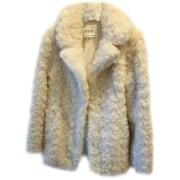 Manteau CLAUDIE PIERLOT Blanc, blanc cassé, écru
