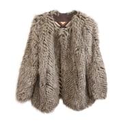 Manteau en fourrure MARC JACOBS Gris, anthracite