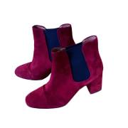 Bottines & low boots à talons BALZAC PARIS Rouge, bordeaux