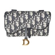 Leather Clutch DIOR Saddle Blue, navy, turquoise