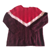 Sweater SÉZANE Red, burgundy