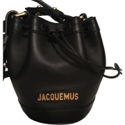 Leather Shoulder Bag JACQUEMUS Black