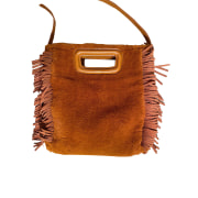 Leather Shoulder Bag MAJE Brown