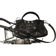 Leather Shoulder Bag BALENCIAGA First Black