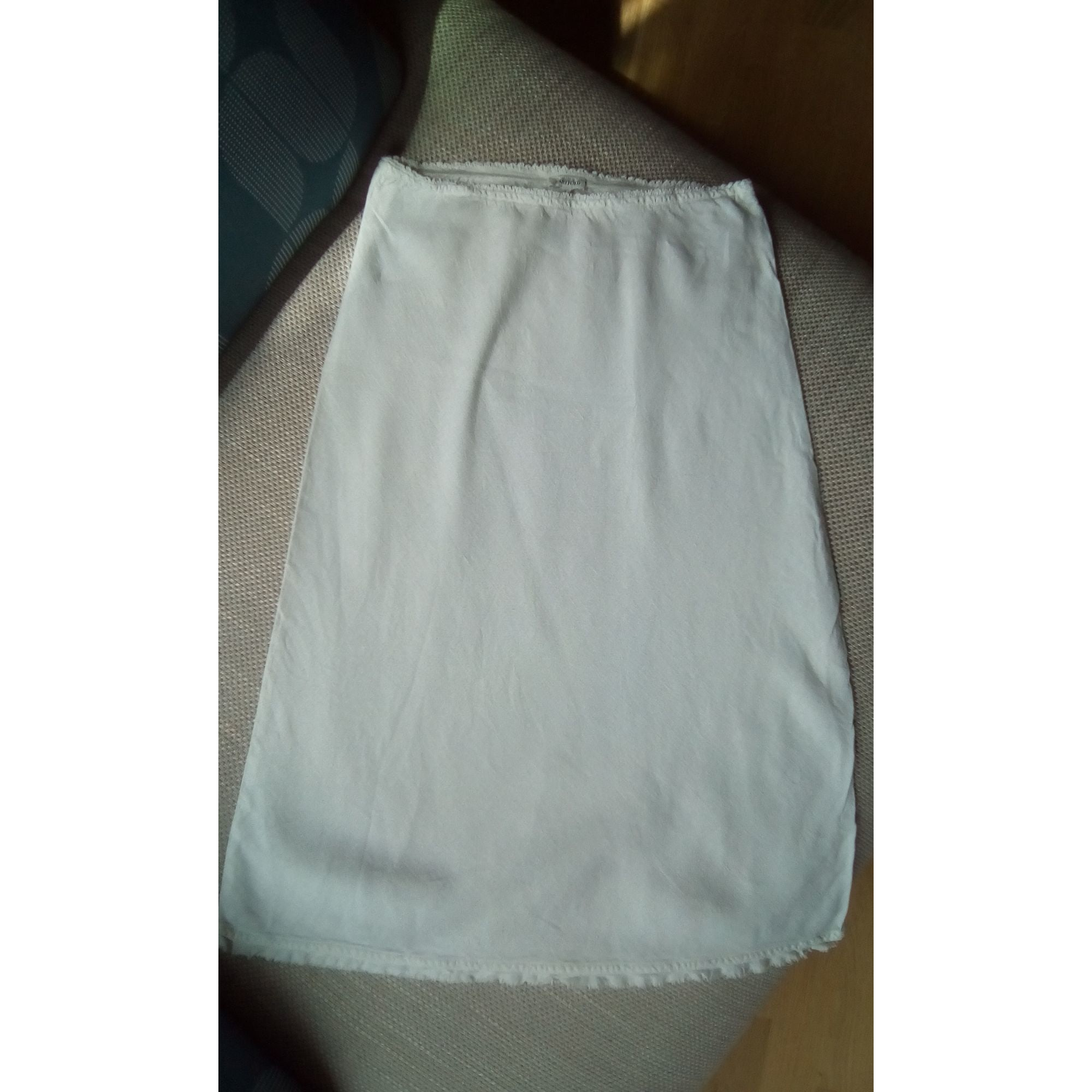 Jupe mi-longue HARTFORD Blanc, blanc cassé, écru