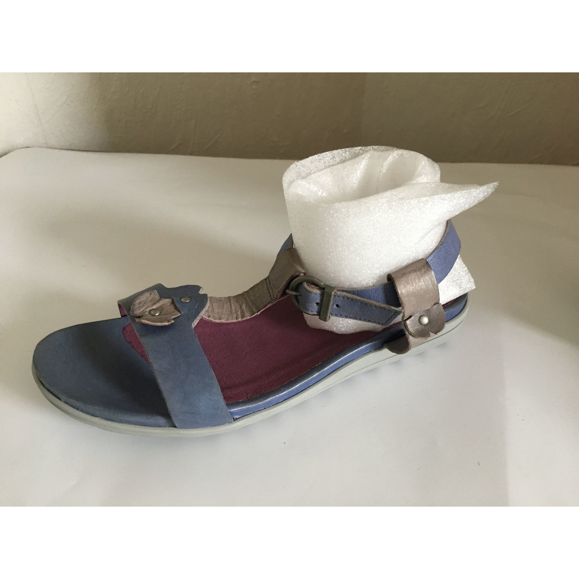 Sandales plates  STÉPHANE GONTARD Bleu, bleu marine, bleu turquoise