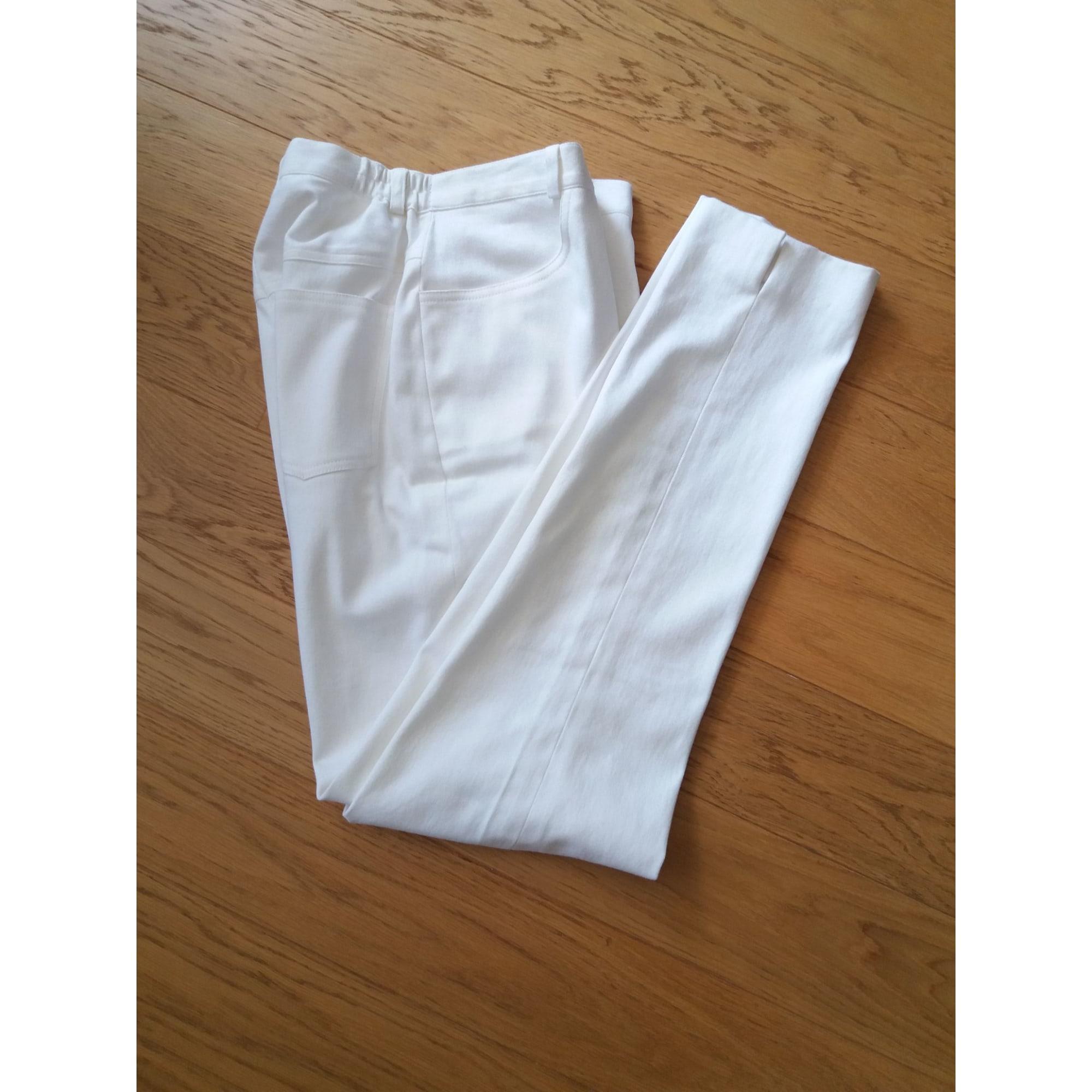 Pantalon droit LEWINGER Blanc, blanc cassé, écru