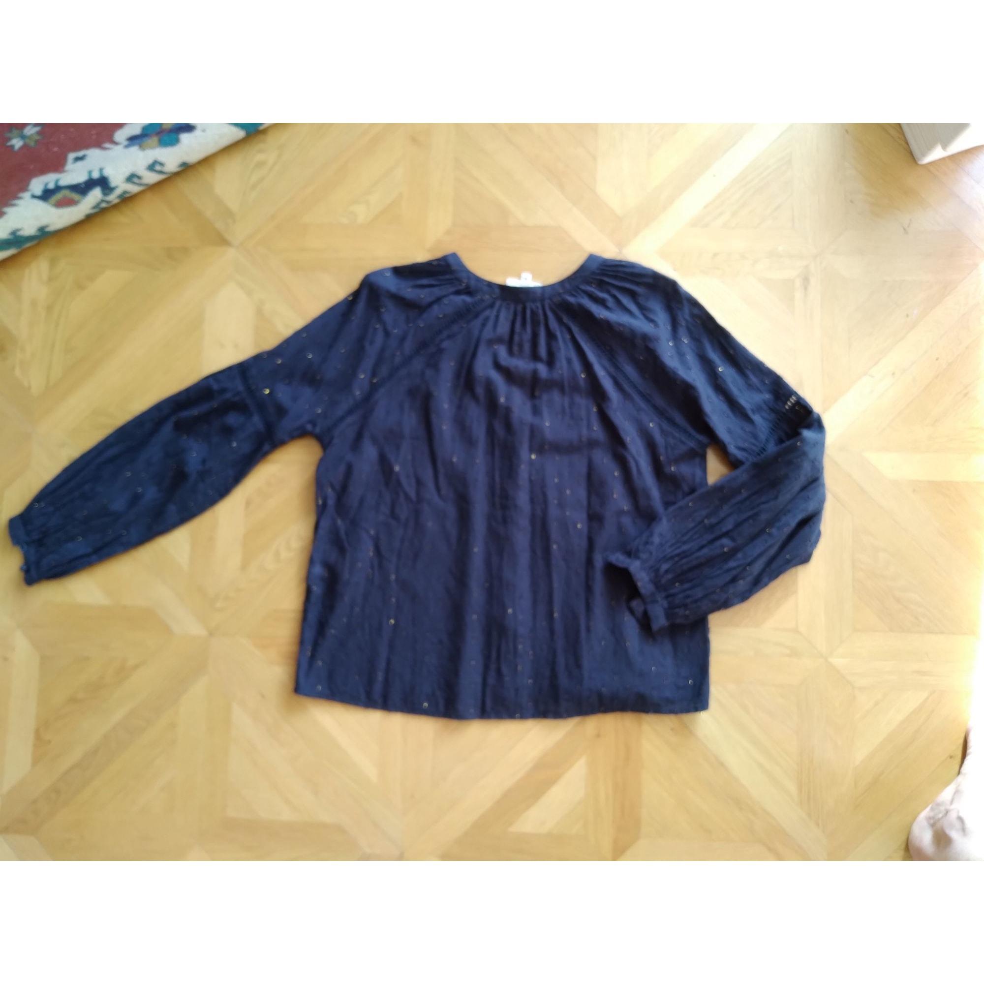 Blouse SÉZANE Bleu, bleu marine, bleu turquoise
