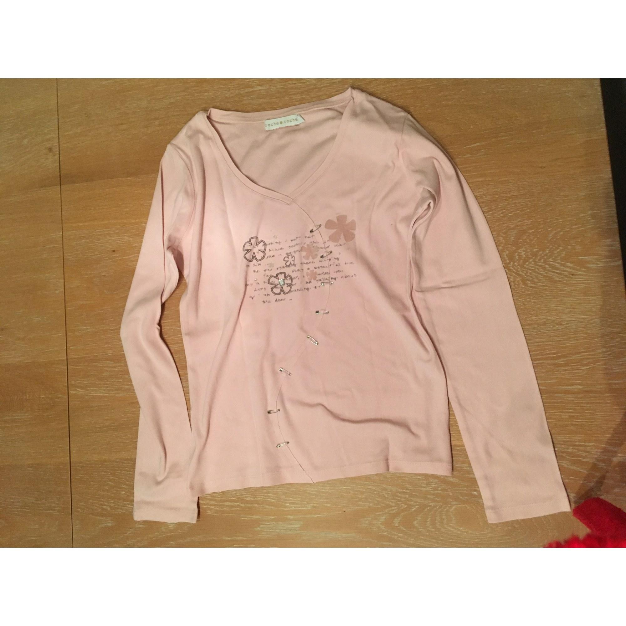 Top, tee-shirt CACHE CACHE Rose, fuschia, vieux rose