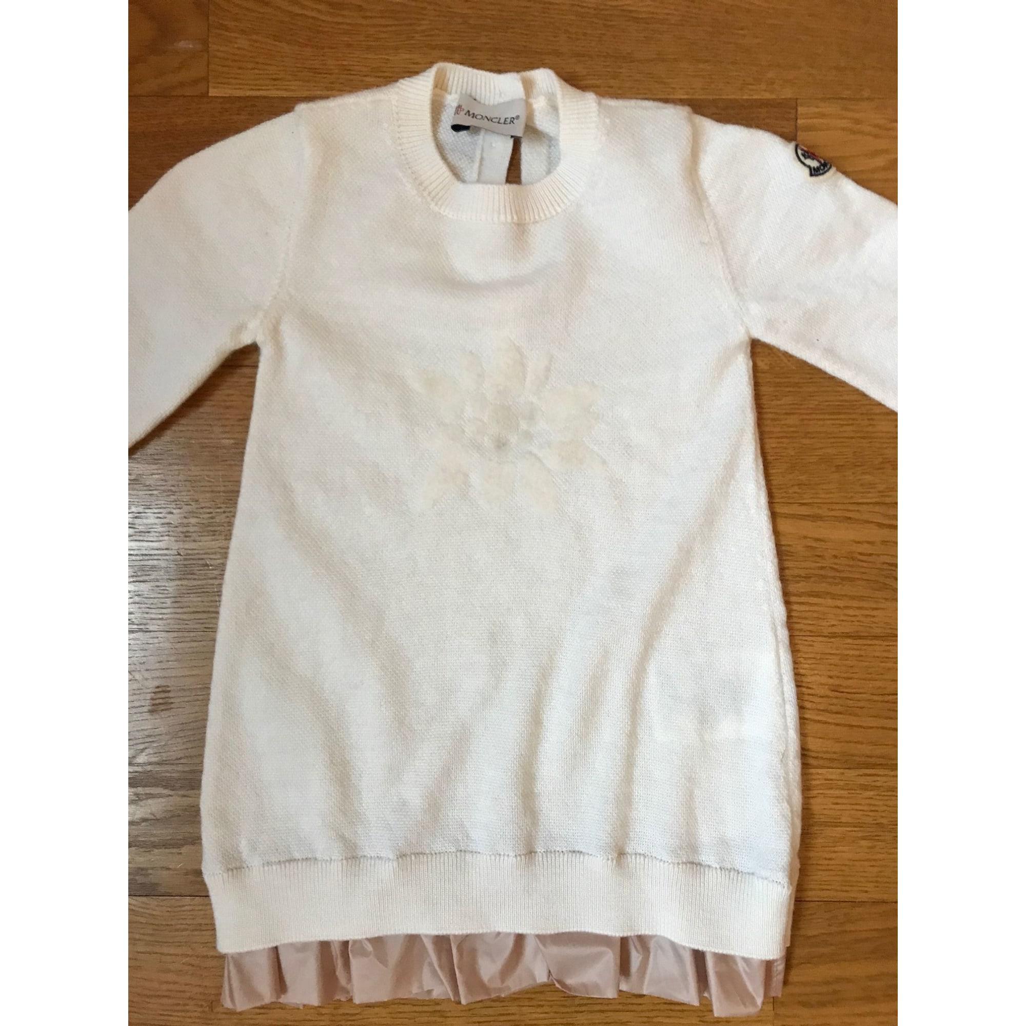Robe MONCLER Blanc, blanc cassé, écru