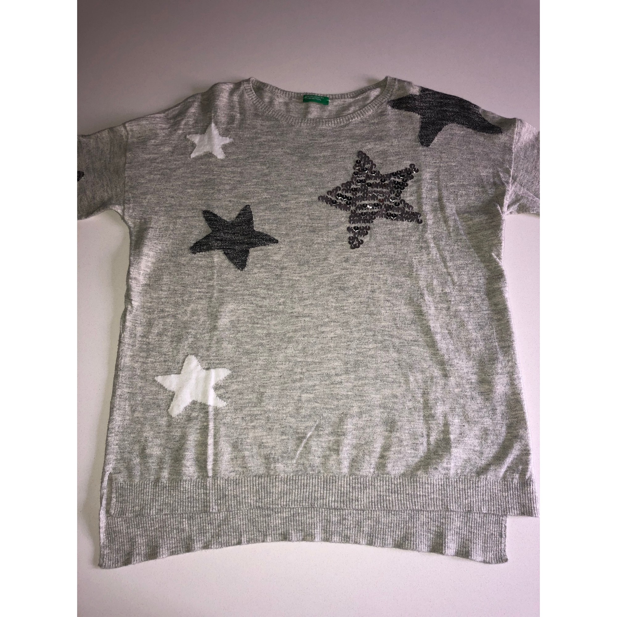 Pull UNITED COLORS OF BENETTON Gris, anthracite