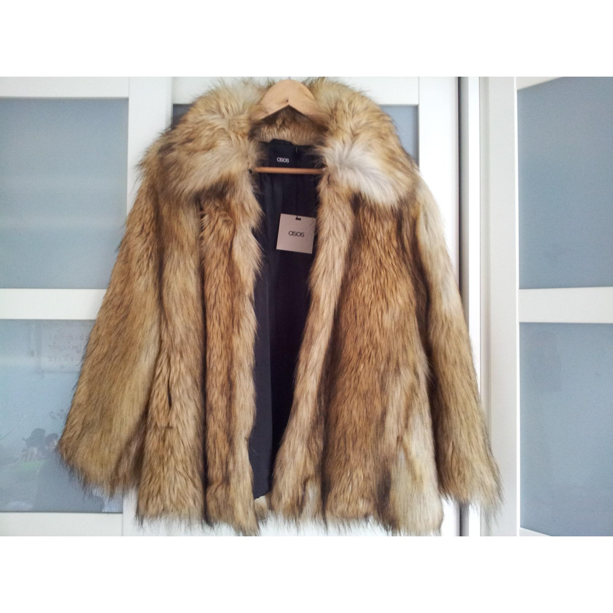 Manteau en fourrure ASOS 38 (M, T2) beige vendu par Armoire de ... 63323eaa3b54