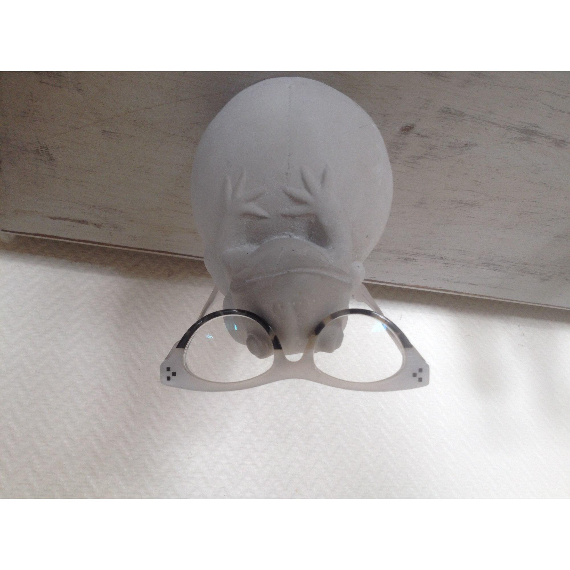 2f00d9c193167d Monture de lunettes THÉO CRÉATEUR BELGE Blanc, blanc cassé, écru