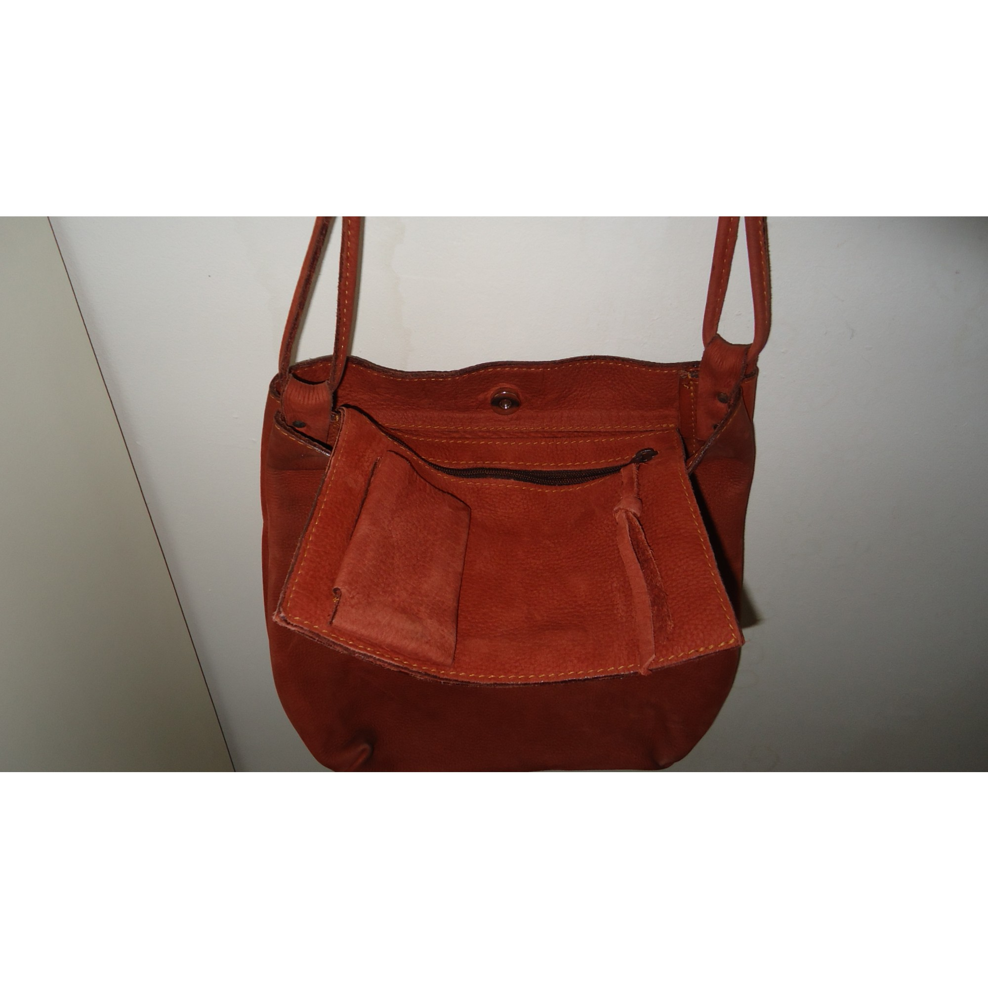 Leather Oversize Bag CHARLES ET CHARLUS terre battue ...