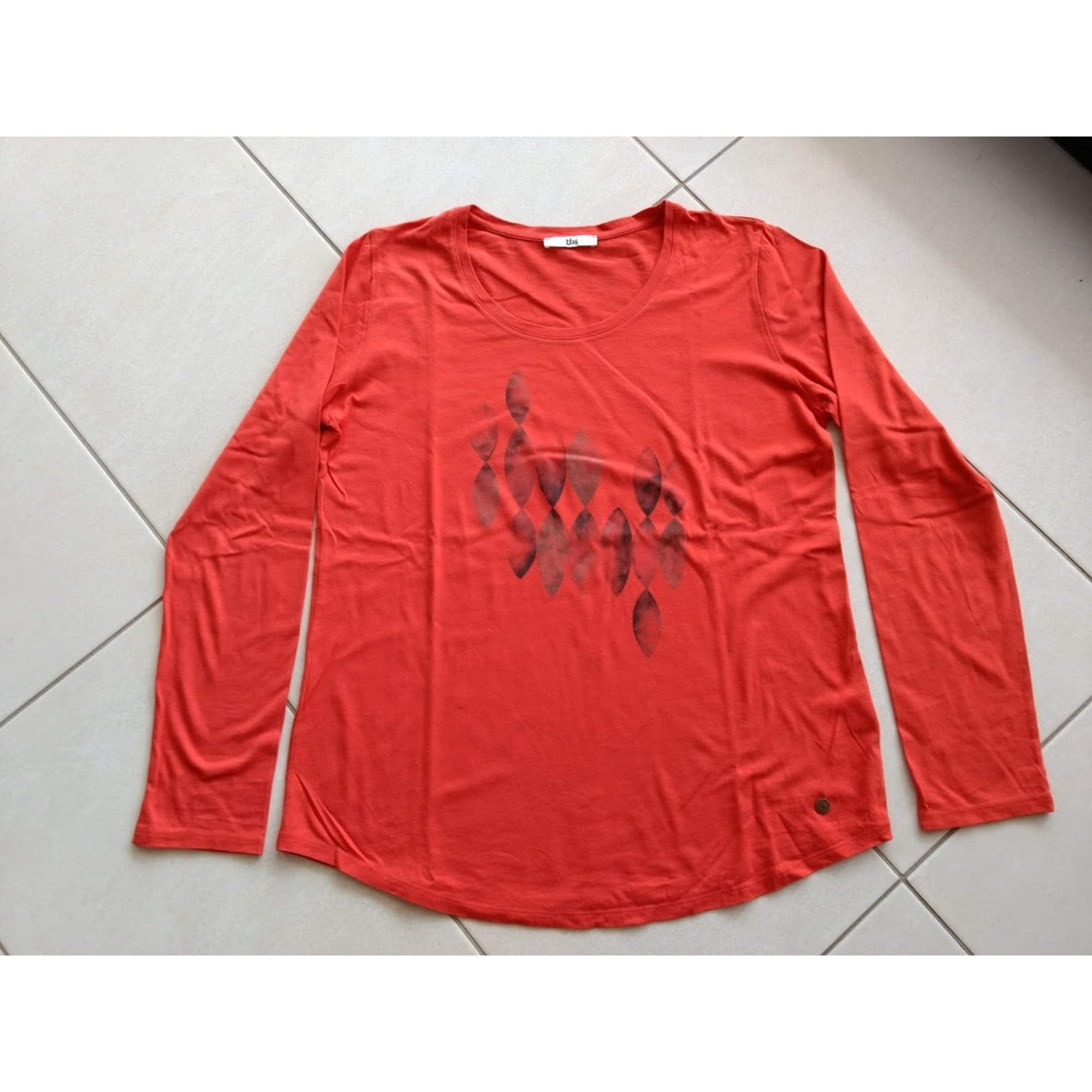 dd545729afeb2b Top, tee-shirt TBS 40 (L, T3) orange - 8012834