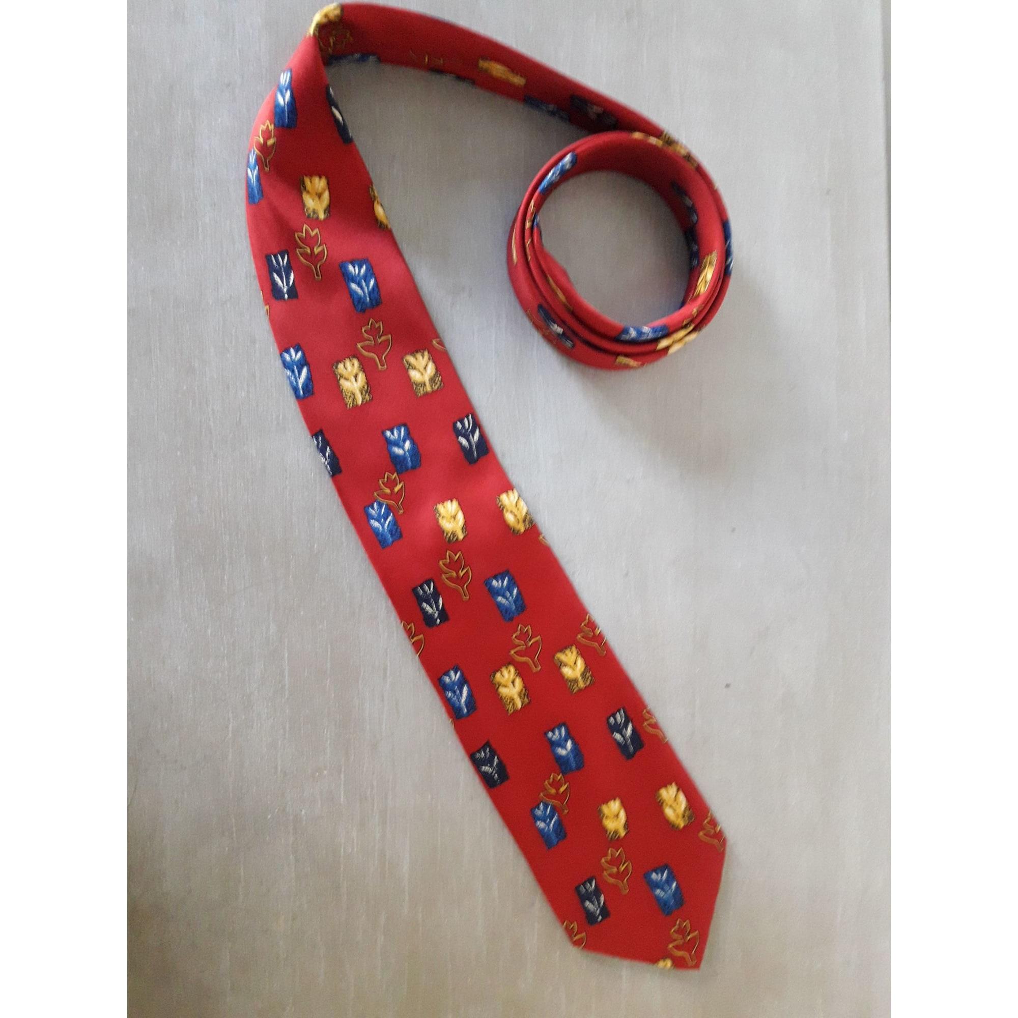Cravate TED LAPIDUS Rouge, bordeaux