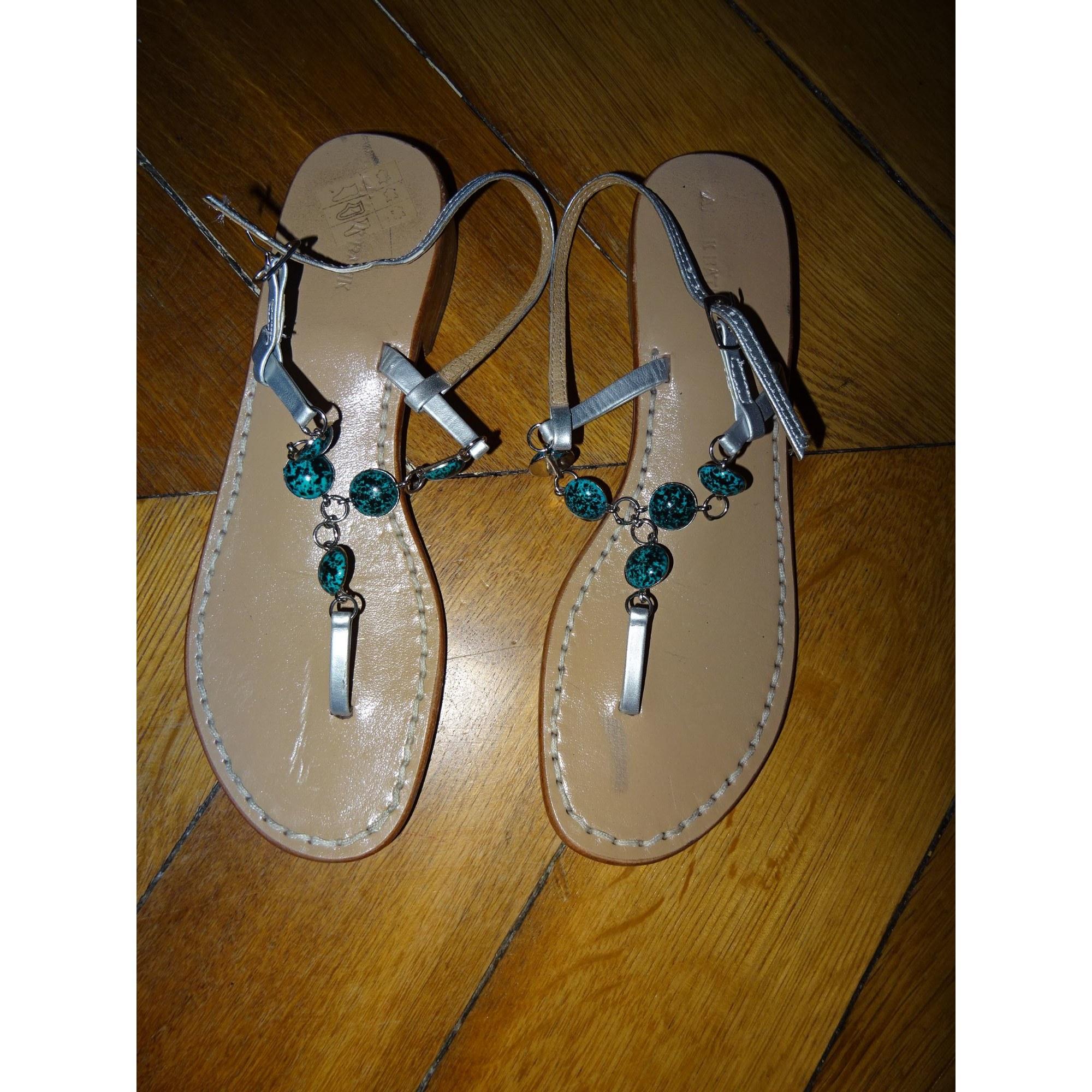 Sandales plates  ANTIK BATIK Gris, anthracite