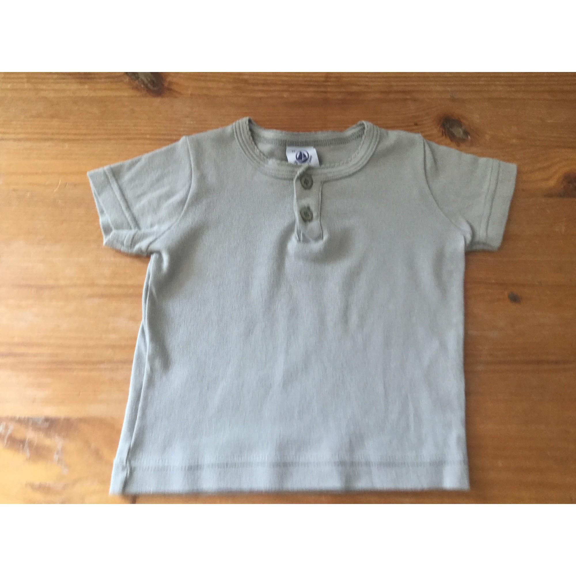 Top, tee shirt PETIT BATEAU Kaki