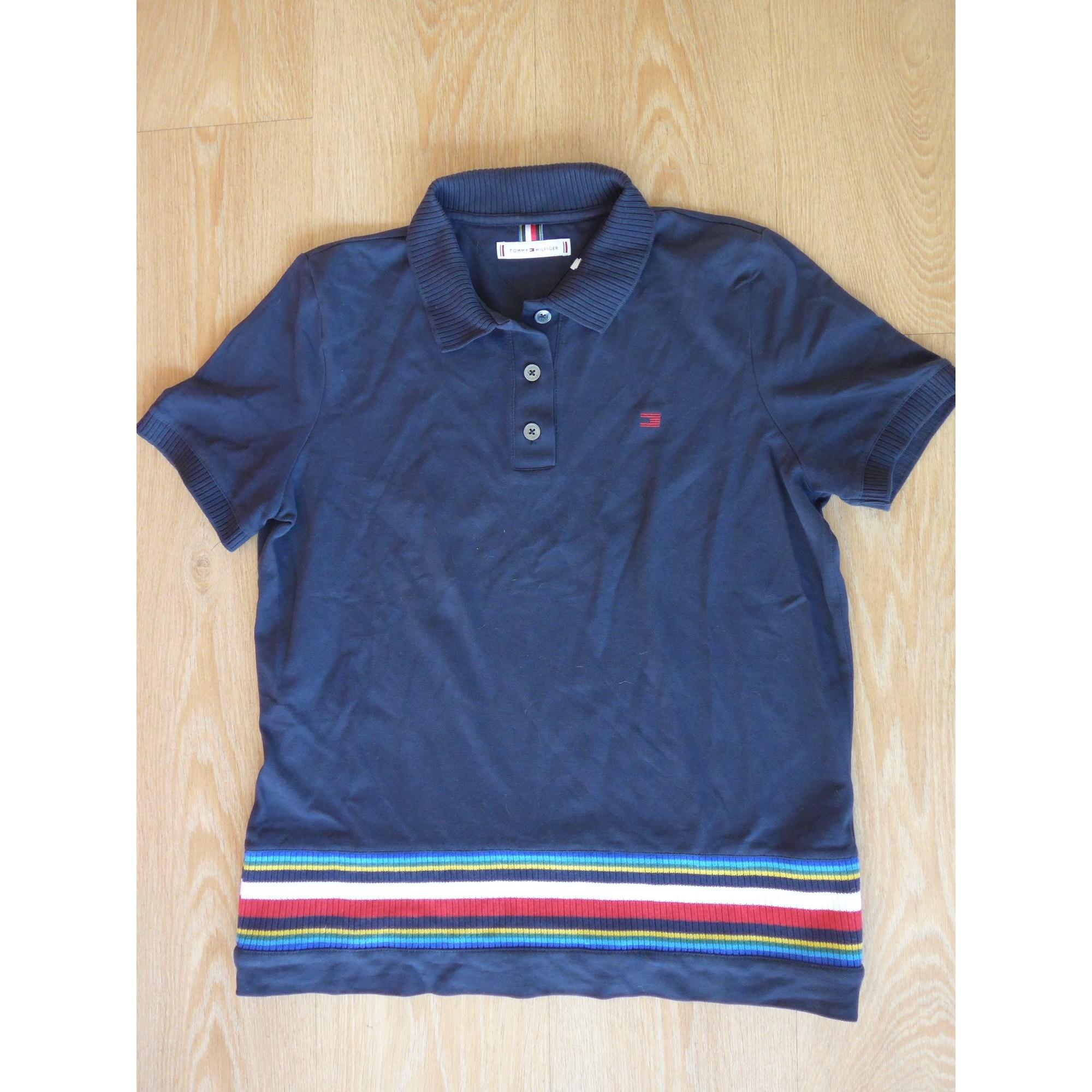 Polo TOMMY HILFIGER Bleu, bleu marine, bleu turquoise