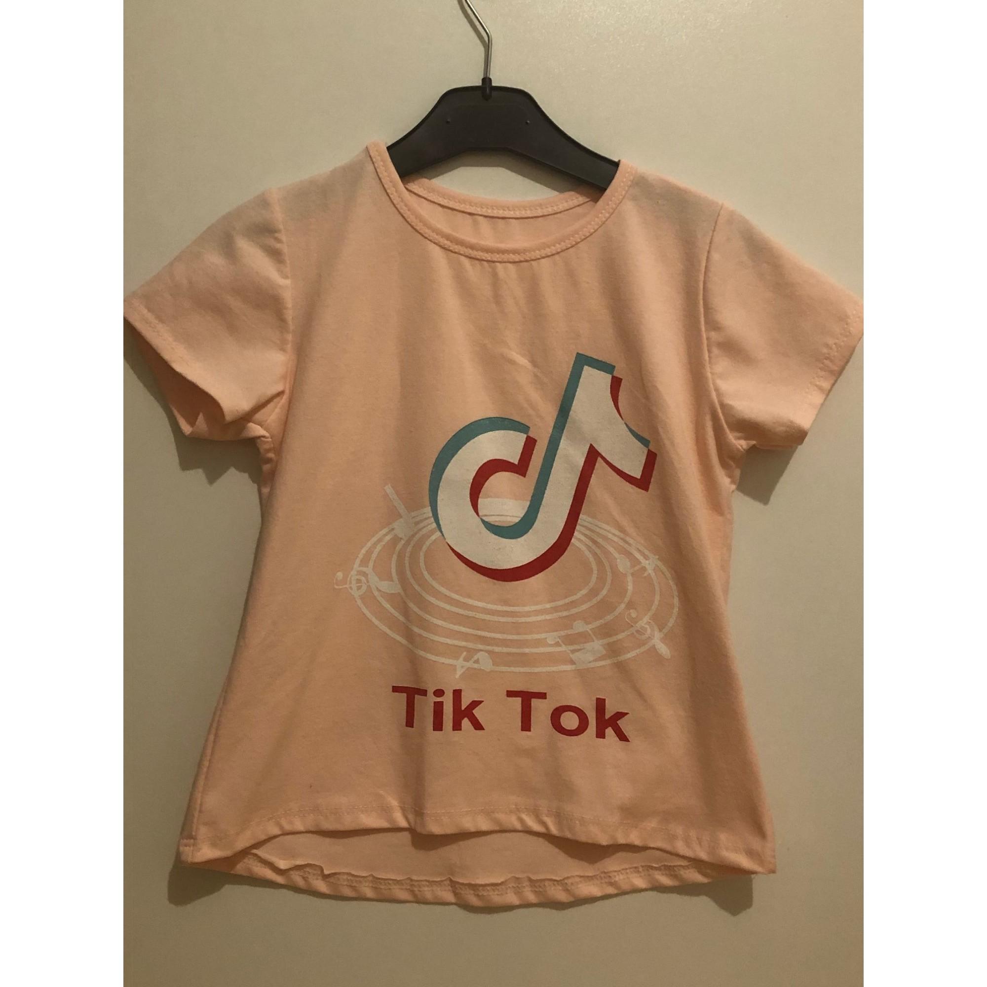 Top, Tee-shirt TIKTOK Rose, fuschia, vieux rose