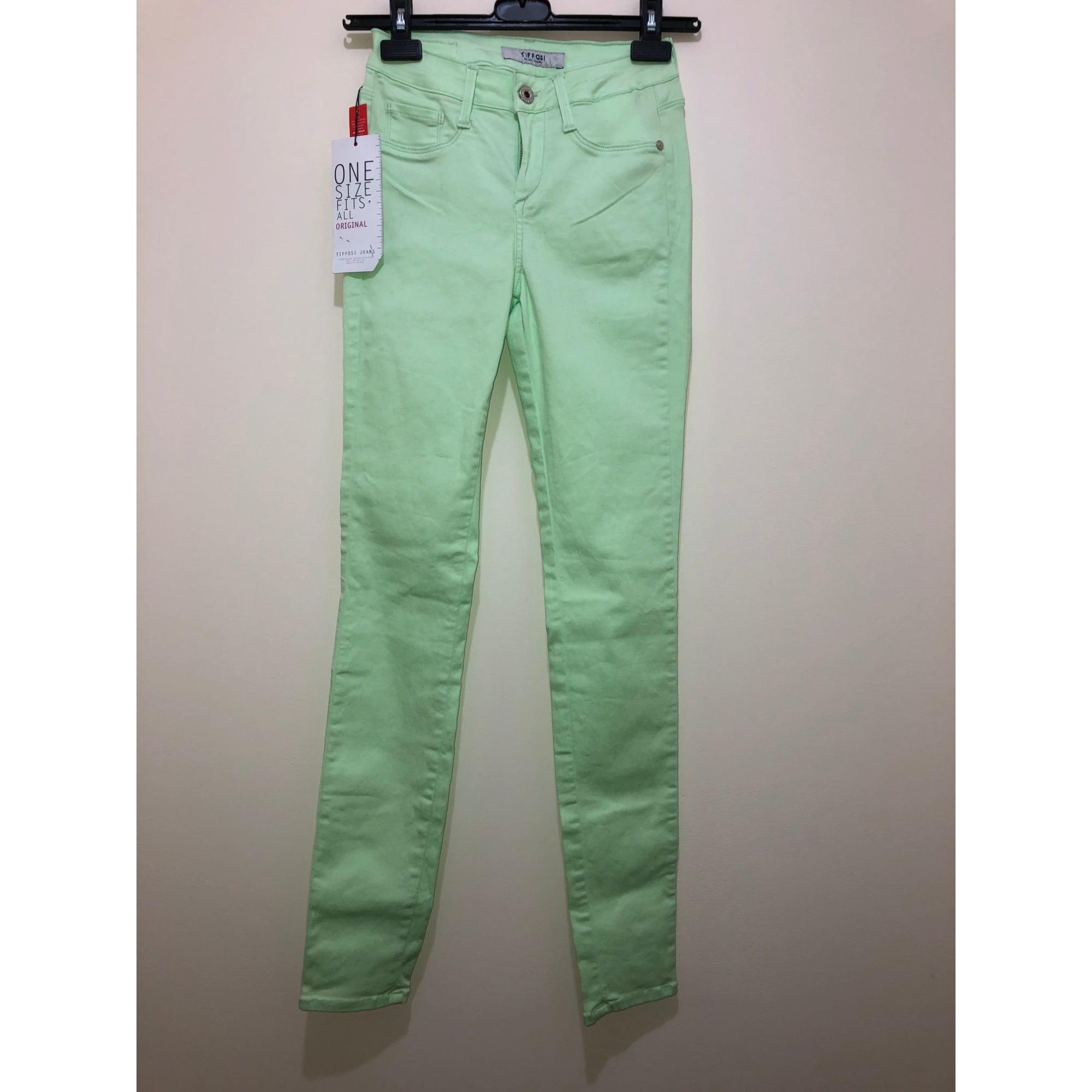 Jeans slim TIFFOSI Vert
