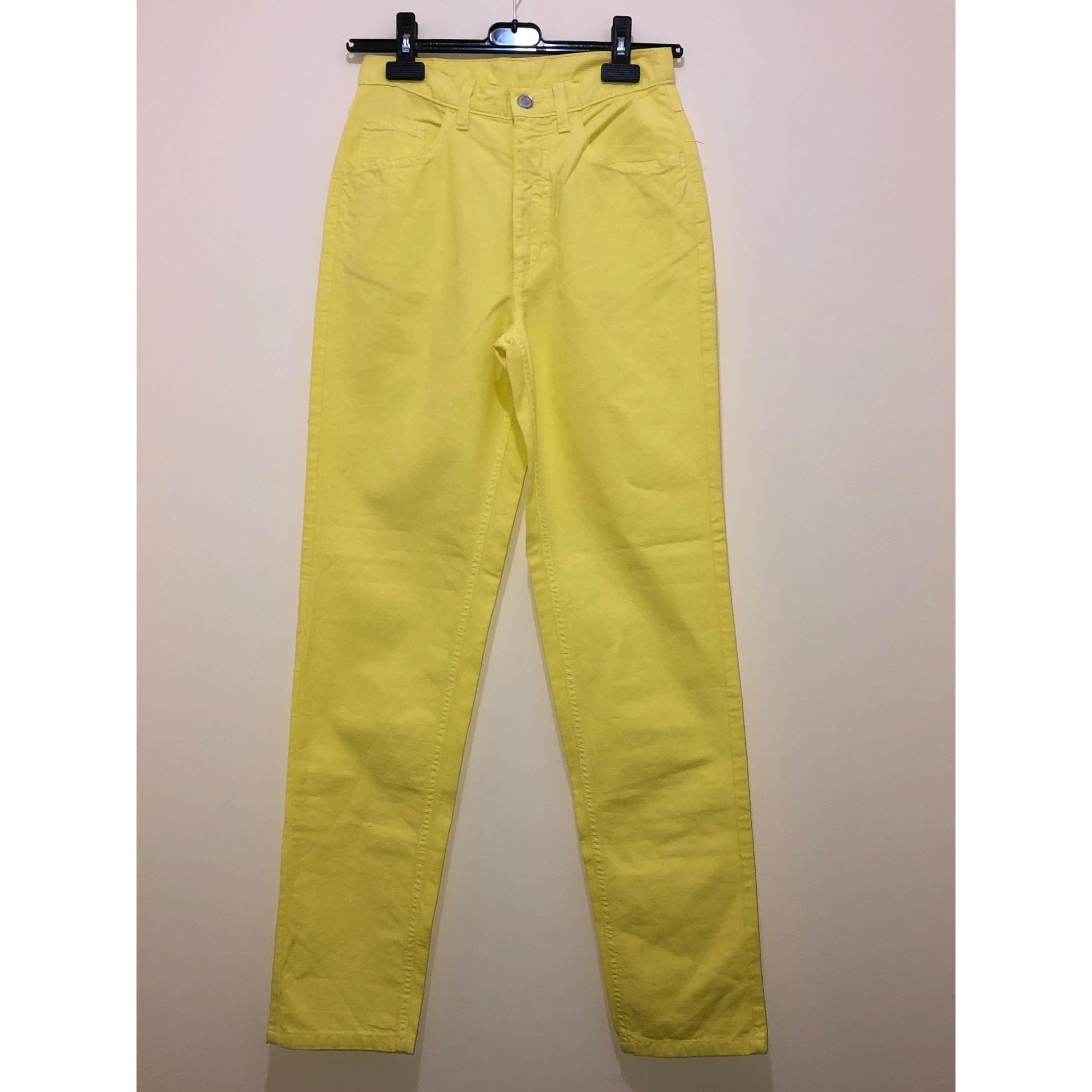 Pantalon carotte UNITED COLORS OF BENETTON Jaune