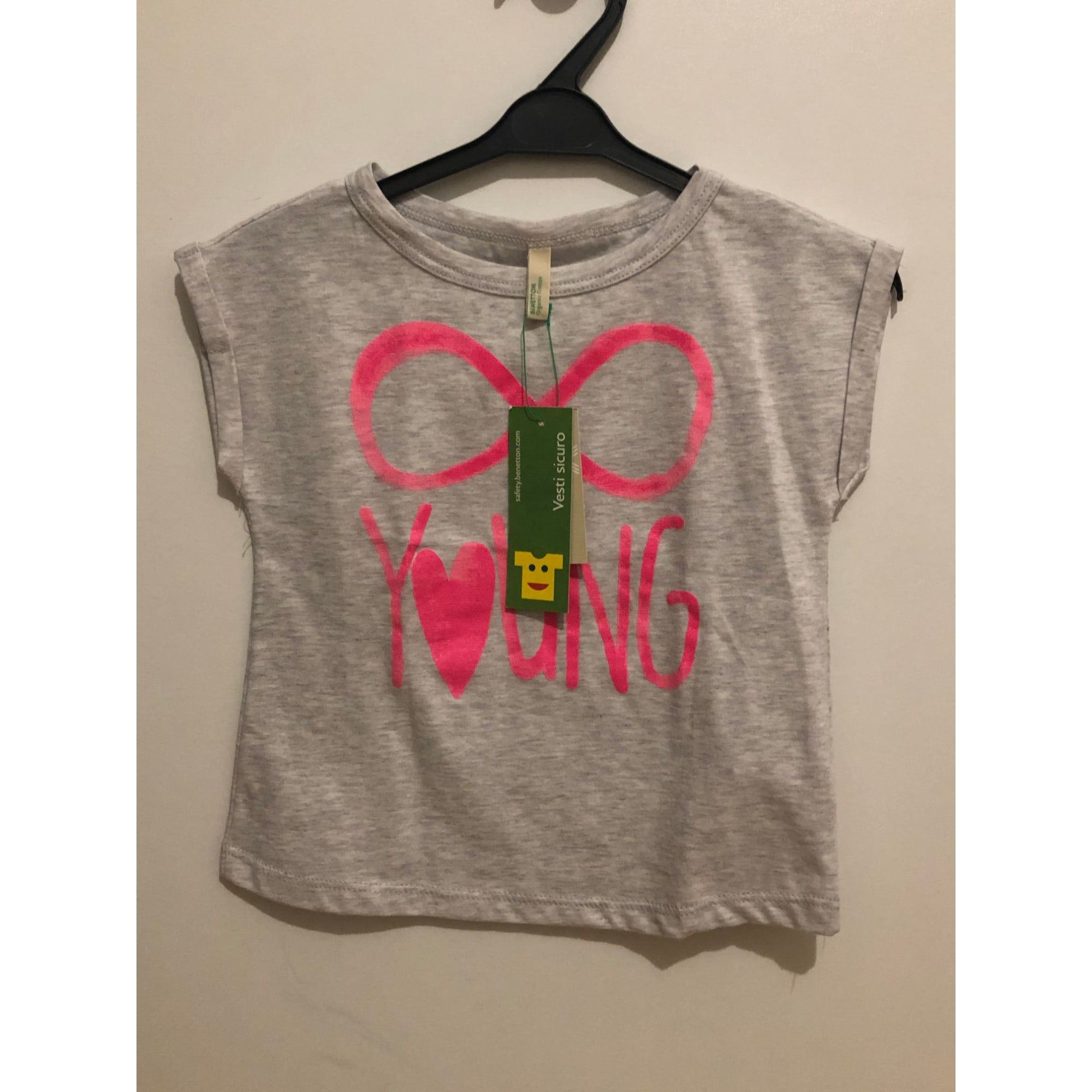 Top, tee shirt UNITED COLORS OF BENETTON Gris, anthracite