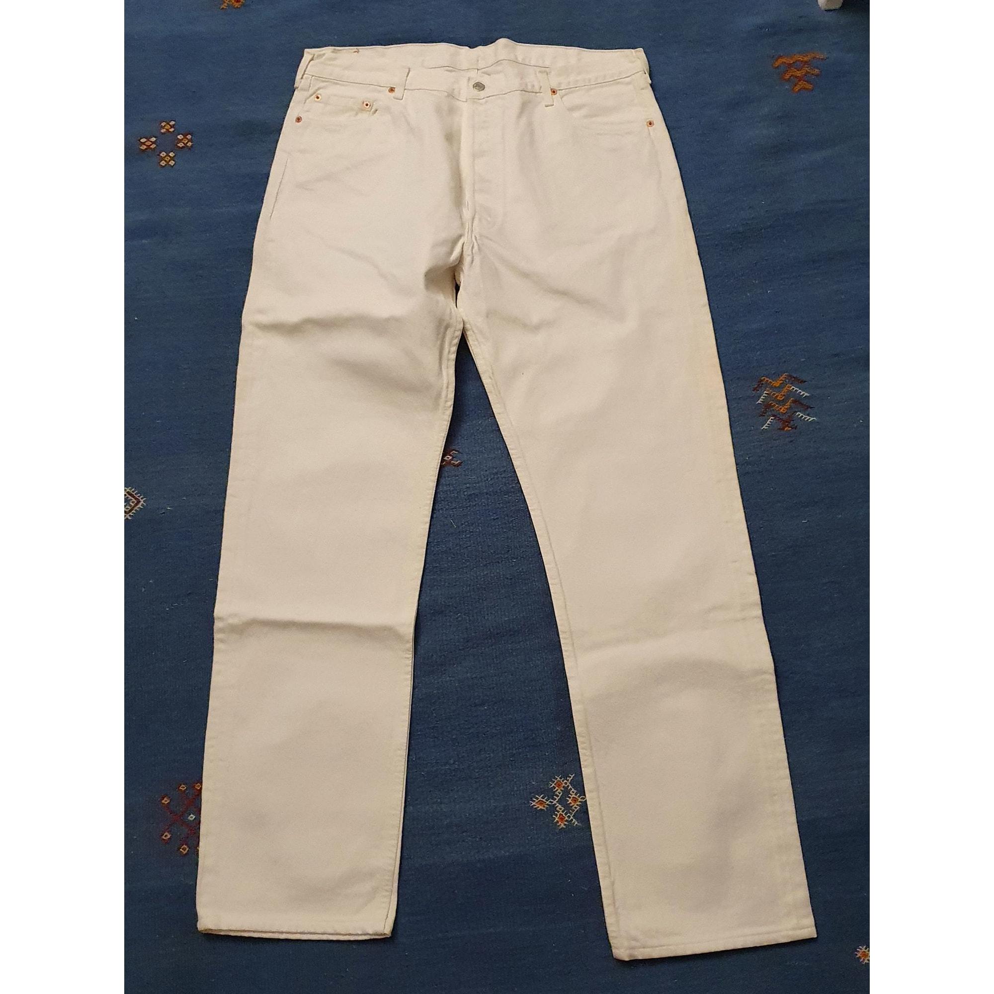 Pantalon large LEVI'S Blanc, blanc cassé, écru