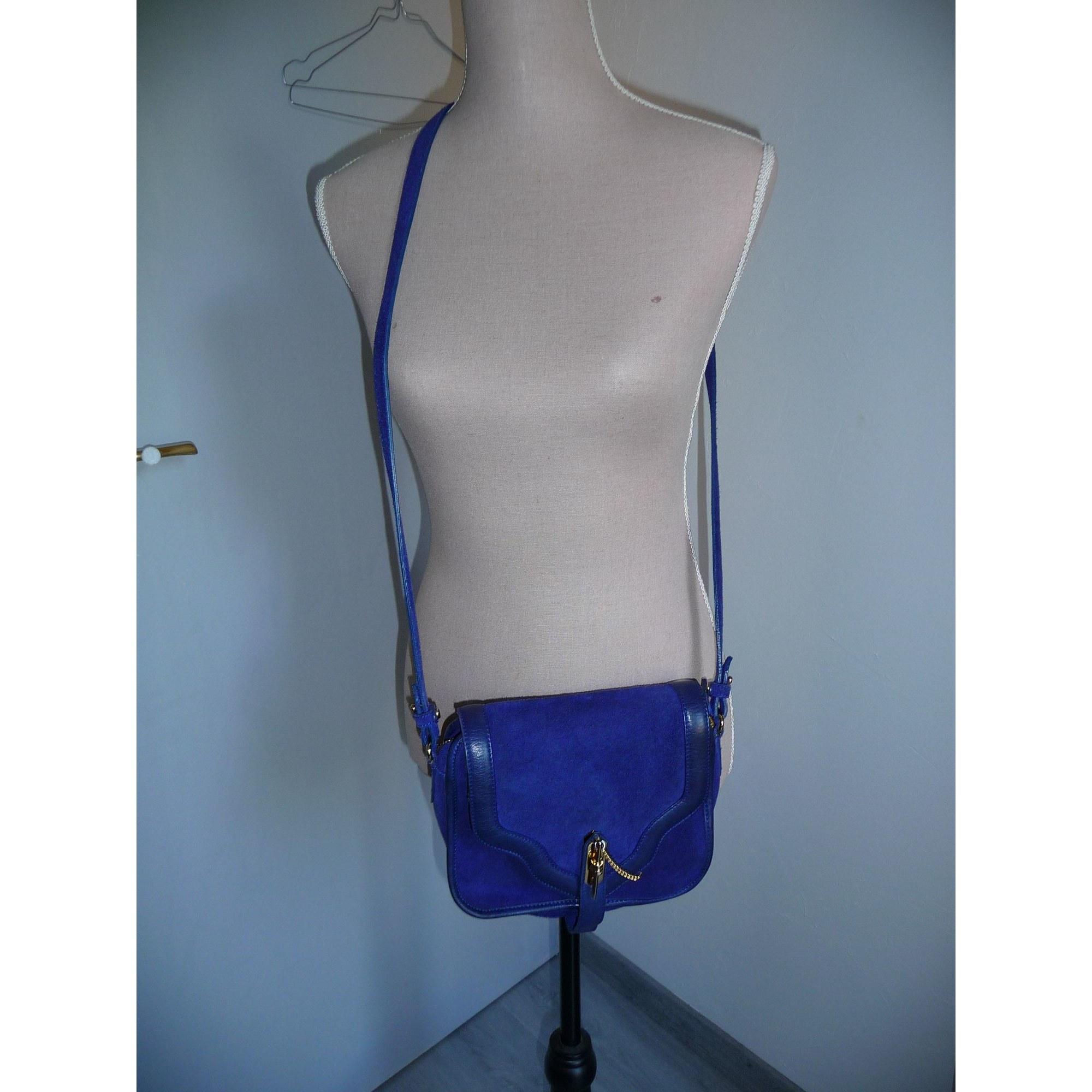 Sac en bandoulière en cuir ANDRÉ Bleu, bleu marine, bleu turquoise