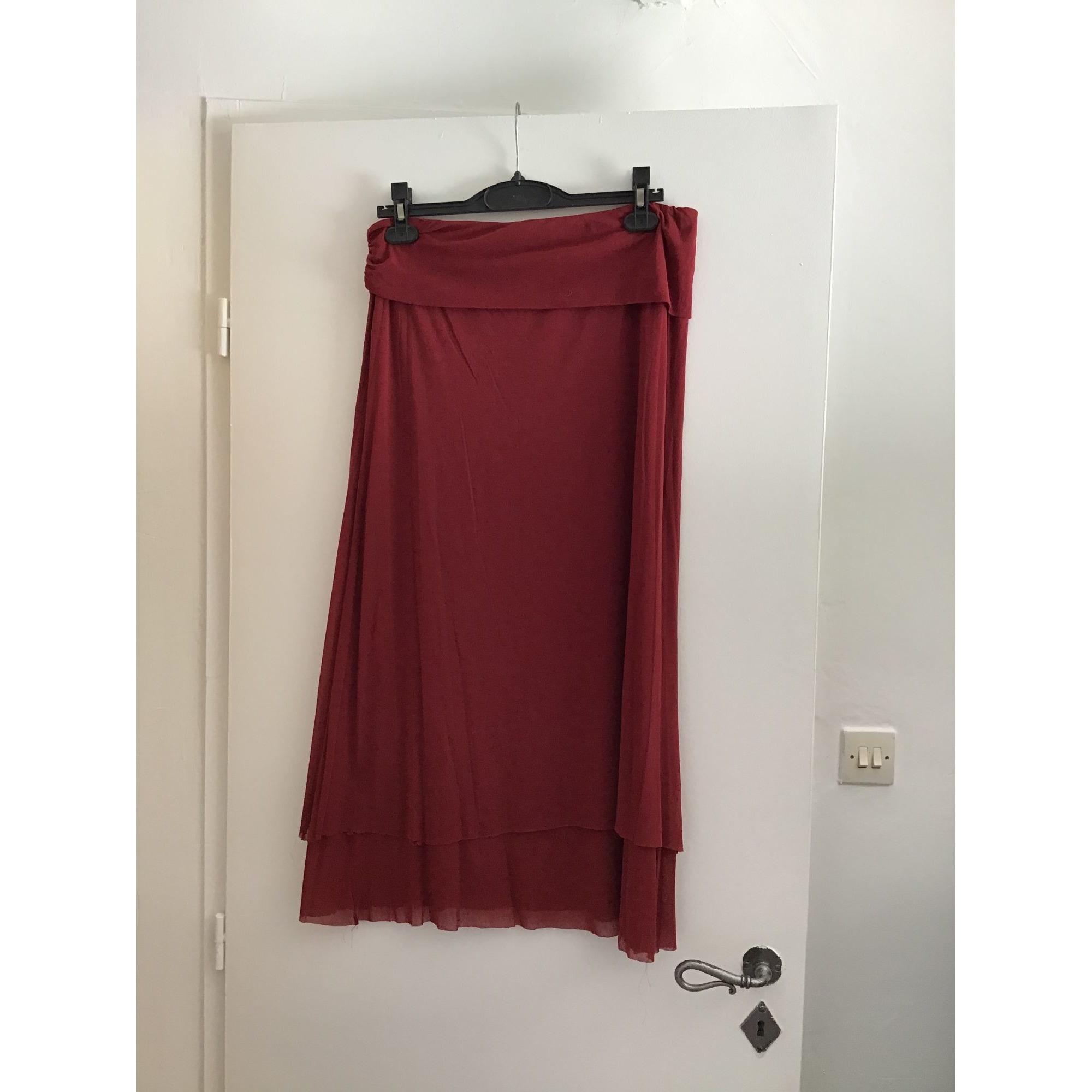 Jupe longue CORINNE SARRUT Rouge, bordeaux