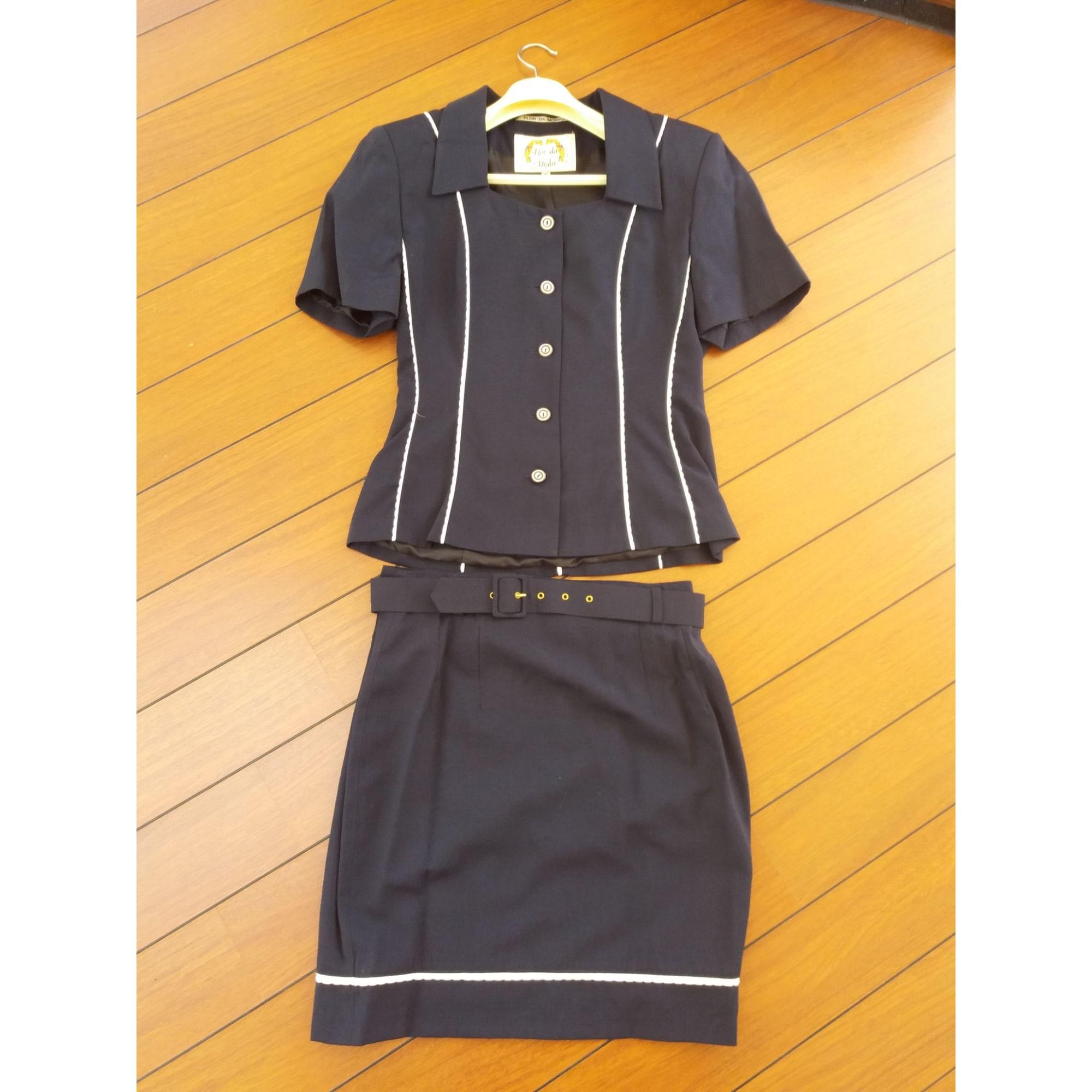 Tailleur jupe FLOR DA MODA Bleu, bleu marine, bleu turquoise