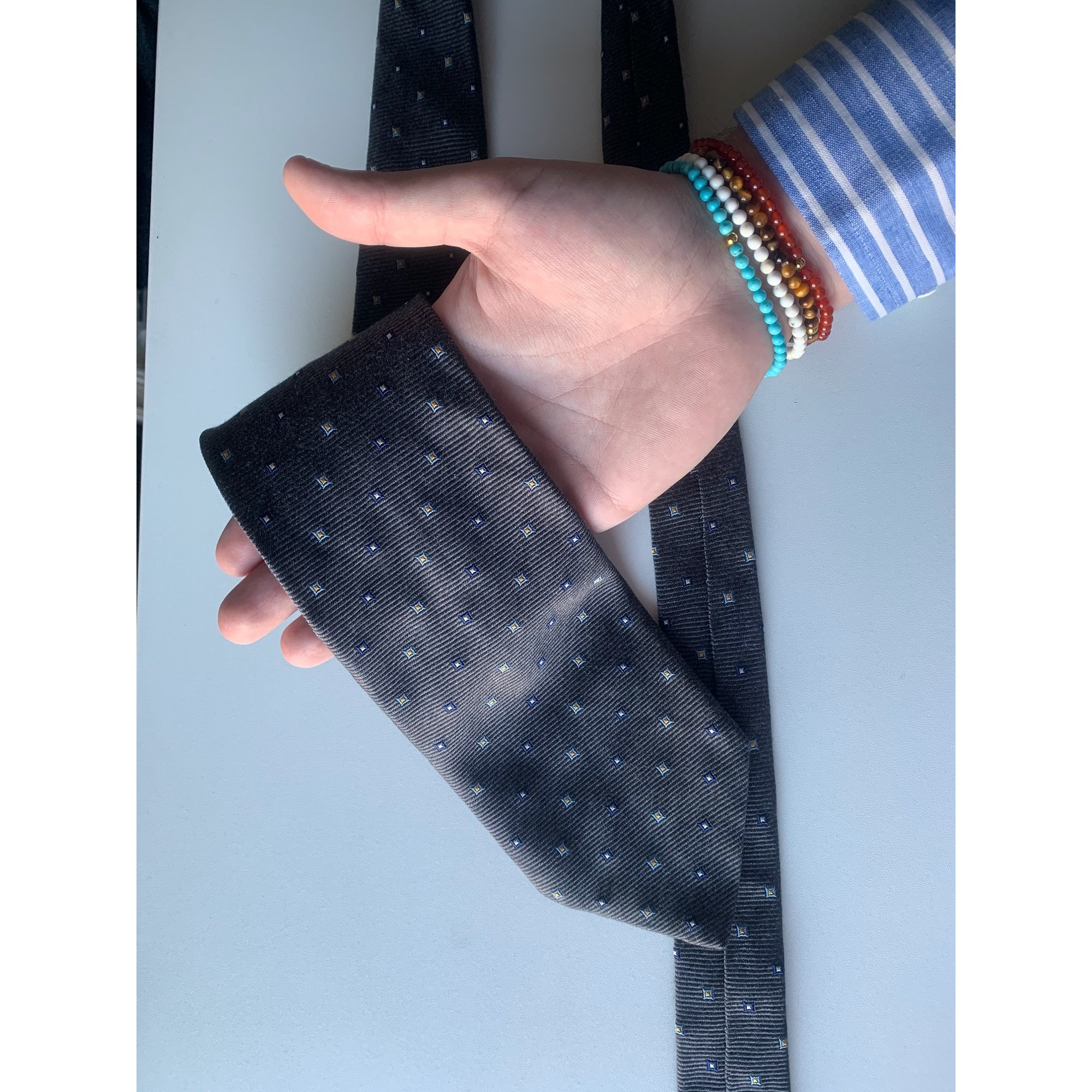 Tie BRUCE FIELD Gray, charcoal
