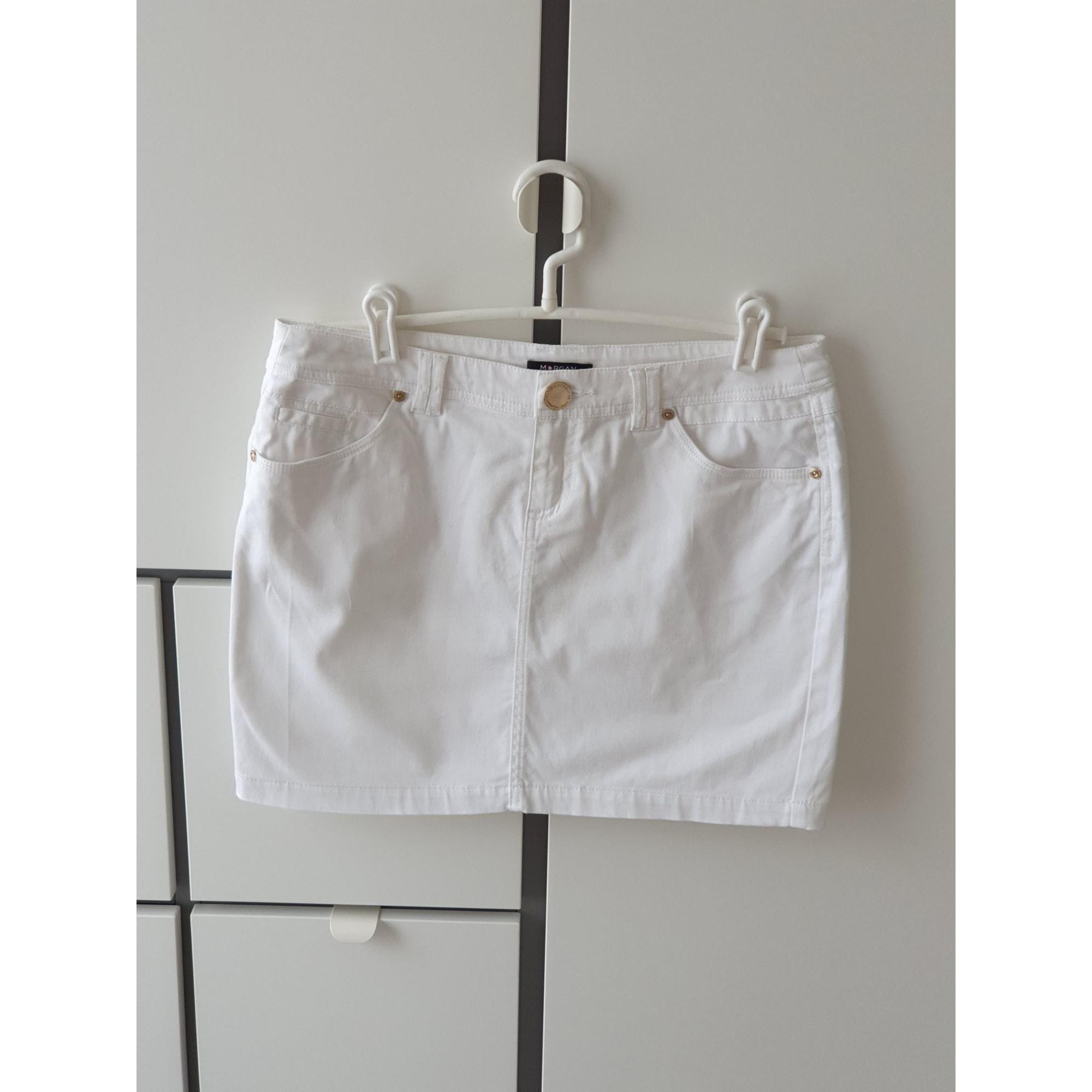 Jupe courte MORGAN Blanc, blanc cassé, écru