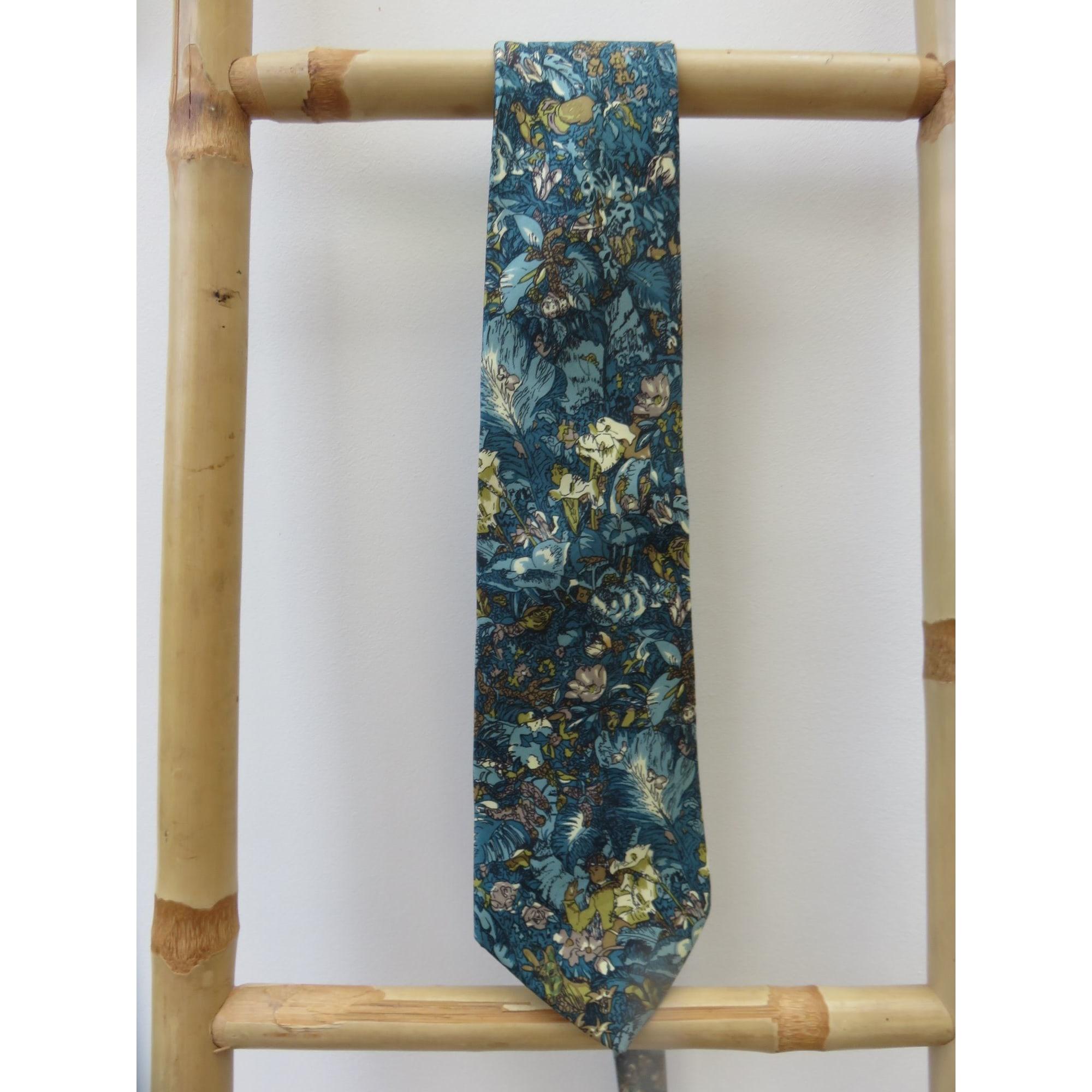 Cravate LORIS AZZARO Bleu, bleu marine, bleu turquoise