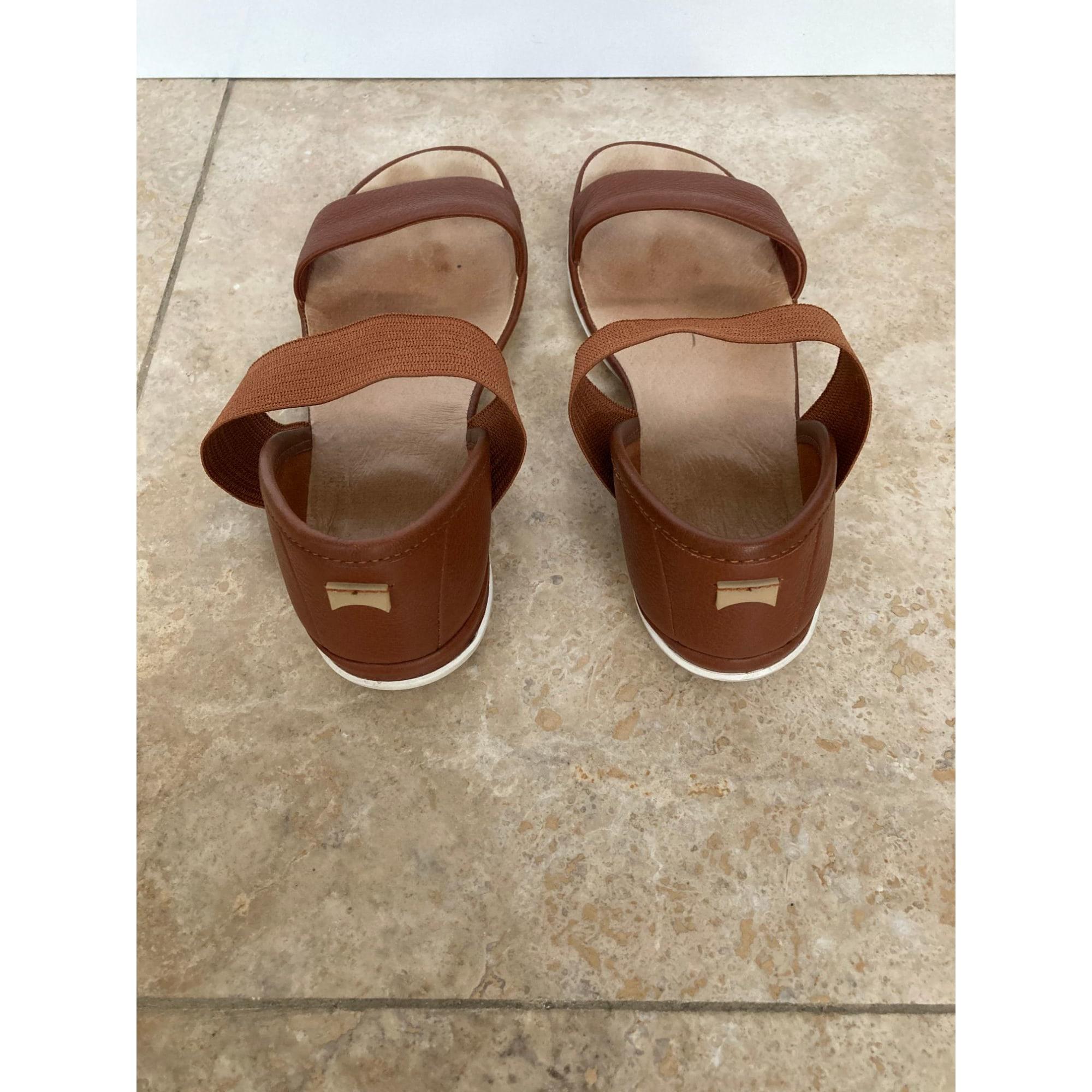 Sandales plates  CAMPER Marron
