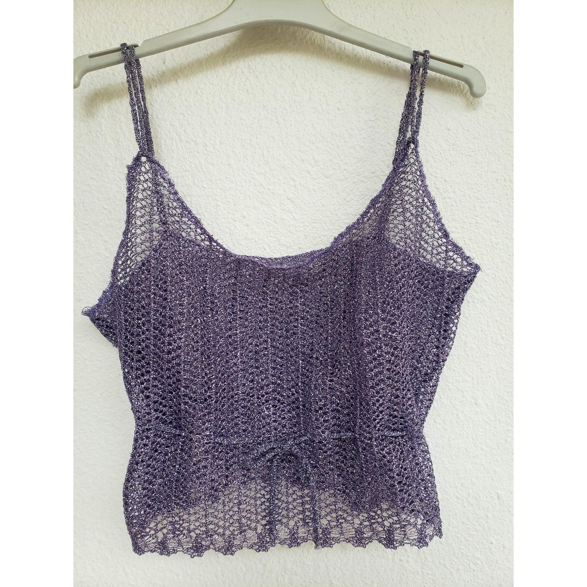 Top, tee-shirt MARQUE INCONNUE Violet, mauve, lavande