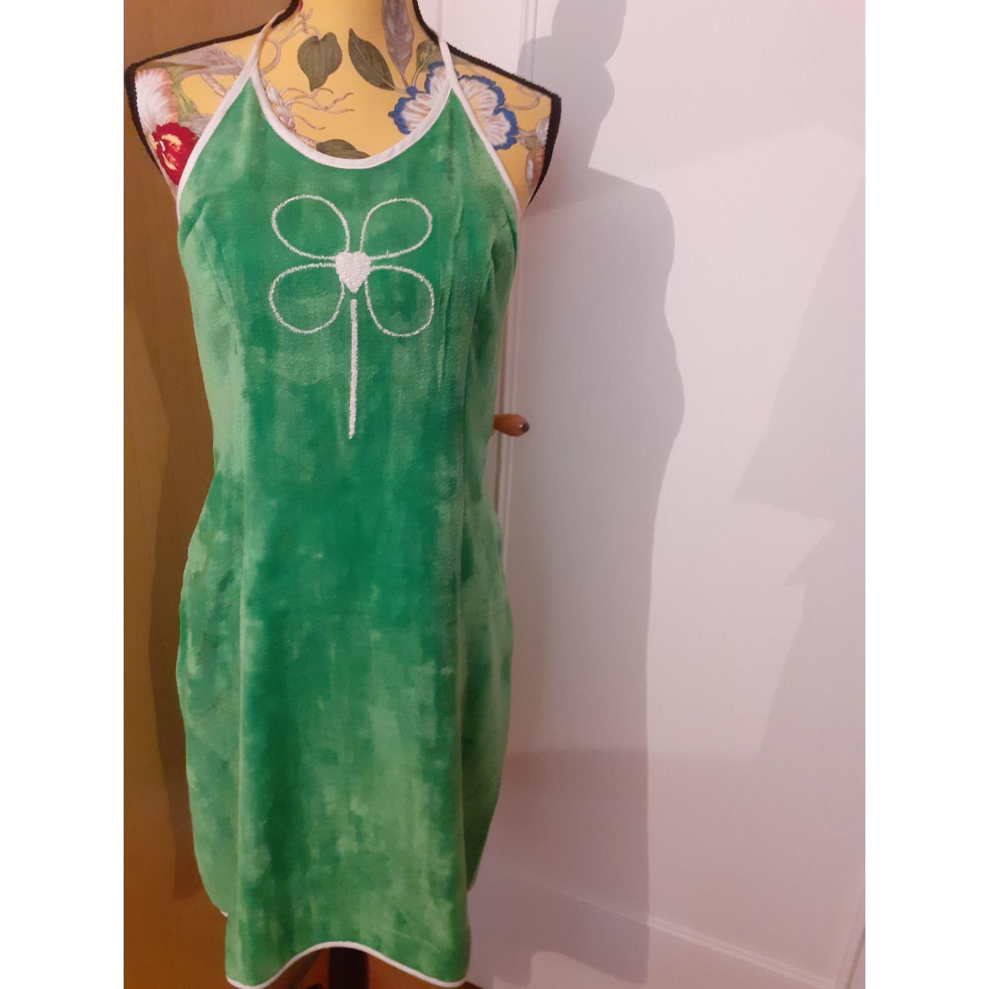 Robe dos nu PURRO BIGNON Vert